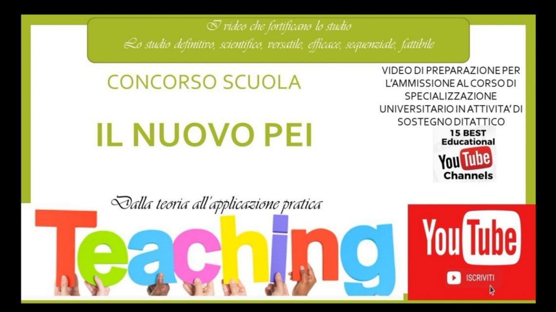 Il PEI (Piano Educativo Individualizzato) a cura del Dott. Professore Francesco Samani