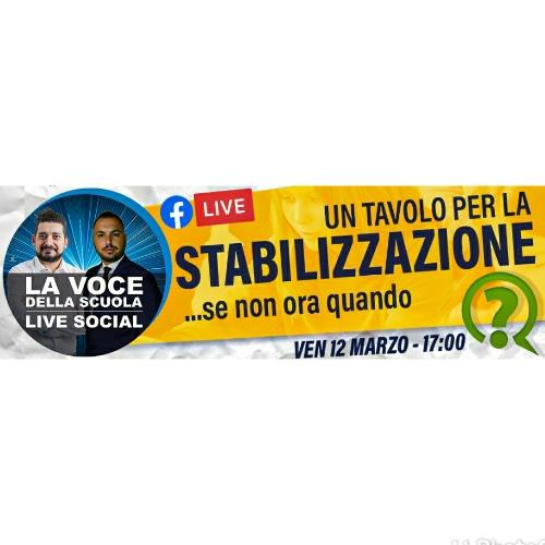 """La Voce della Scuola LIVE, venerdì 12 marzo: """"Puntata Speciale sulla Stabilizzazione"""""""