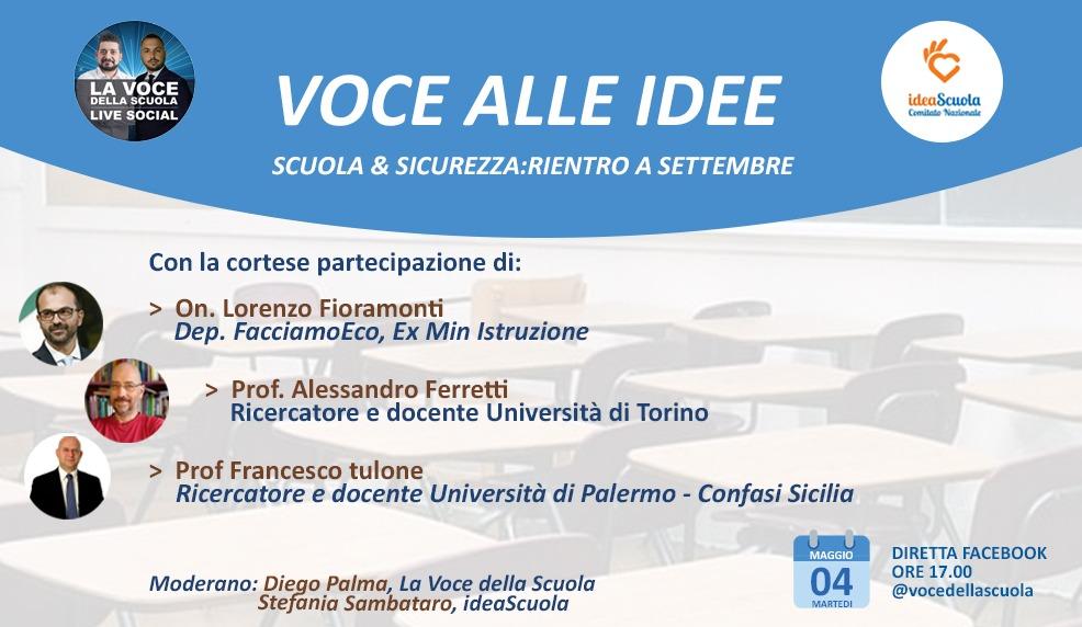 """""""Voce alle Idee"""" – Scuola & Sicurezza: rientro a settembre"""
