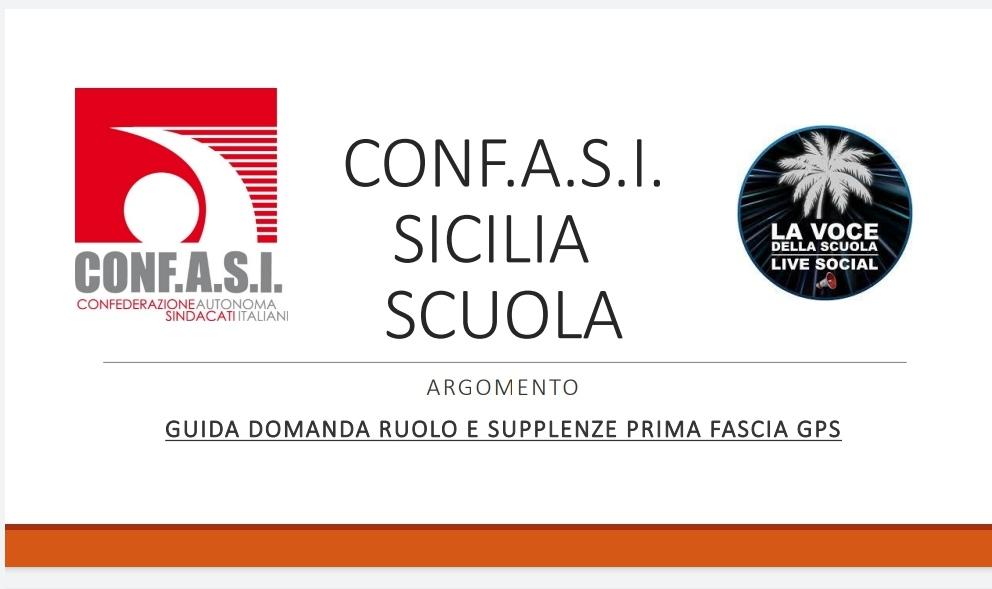 """""""Confasi Sicilia Scuola"""" in collaborazione con """"La Voce della Scuola LIVE"""", mette a disposizione due guide operative per l'inserimento delle domande"""