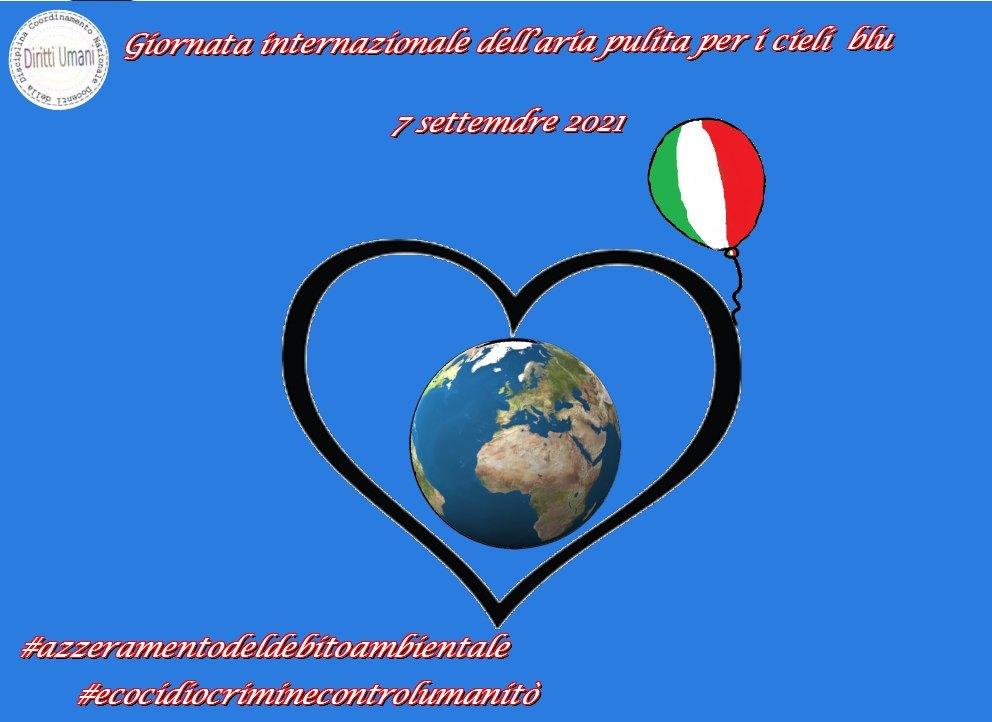 """CNDDU: """"Il 7 settembre ricorre la seconda Giornata internazionale dell'aria pulita per i cieli blu, istituita dall'Assemblea generale delle Nazioni Unite"""""""