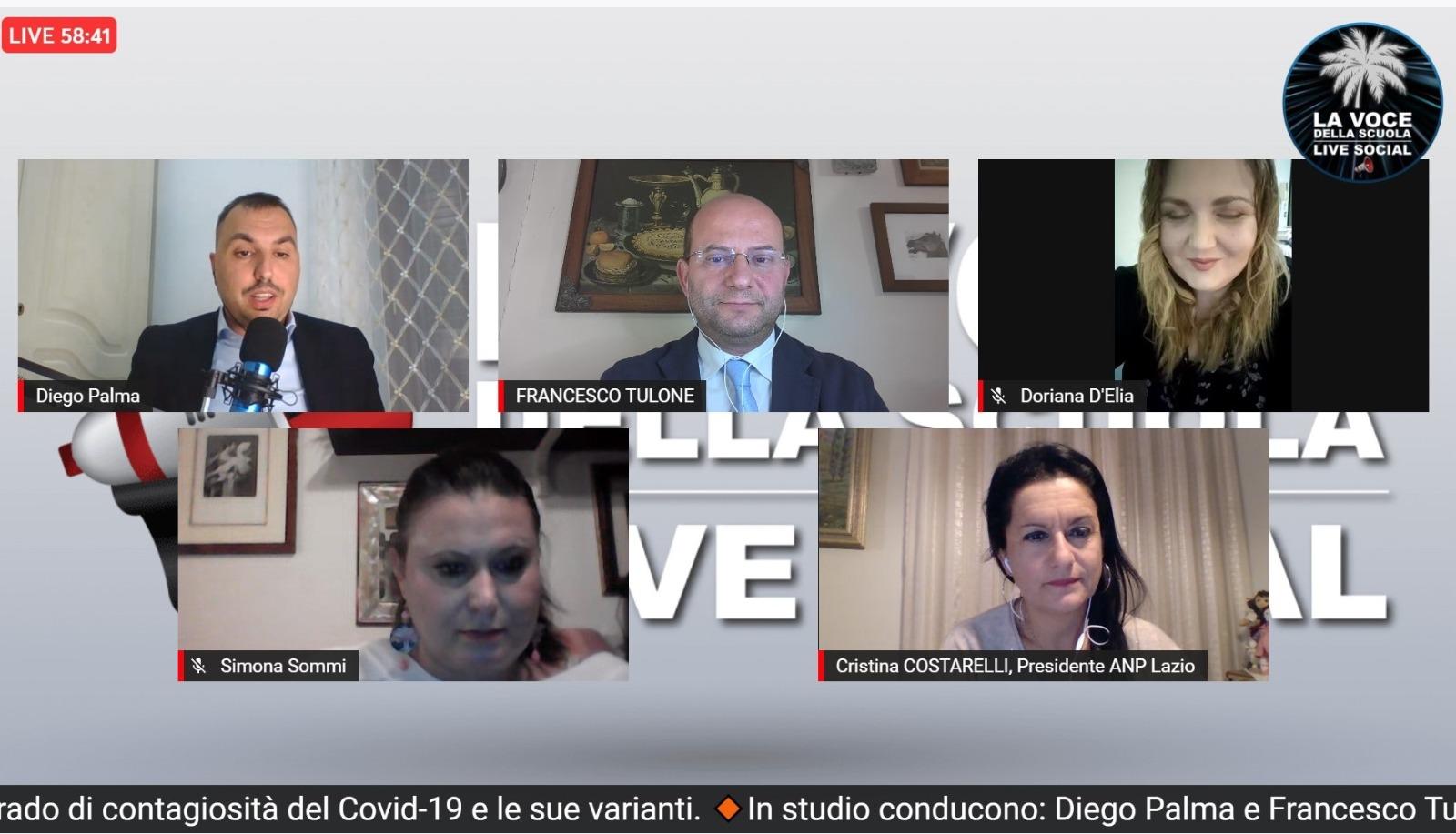 Simona Sommi, Responsabile Scuola Lega Regione Lombardia, durante l'intervista fatta dal Prof. Francesco Tulone nella 41esima puntata de La Voce della Scuola Live