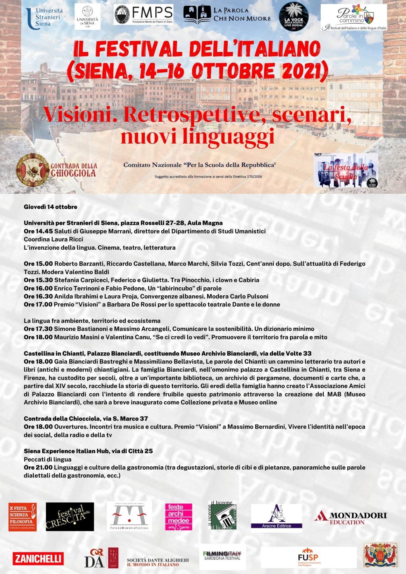 Il festival dell'italiano (Siena, 14-16 ottobre 2021) 1