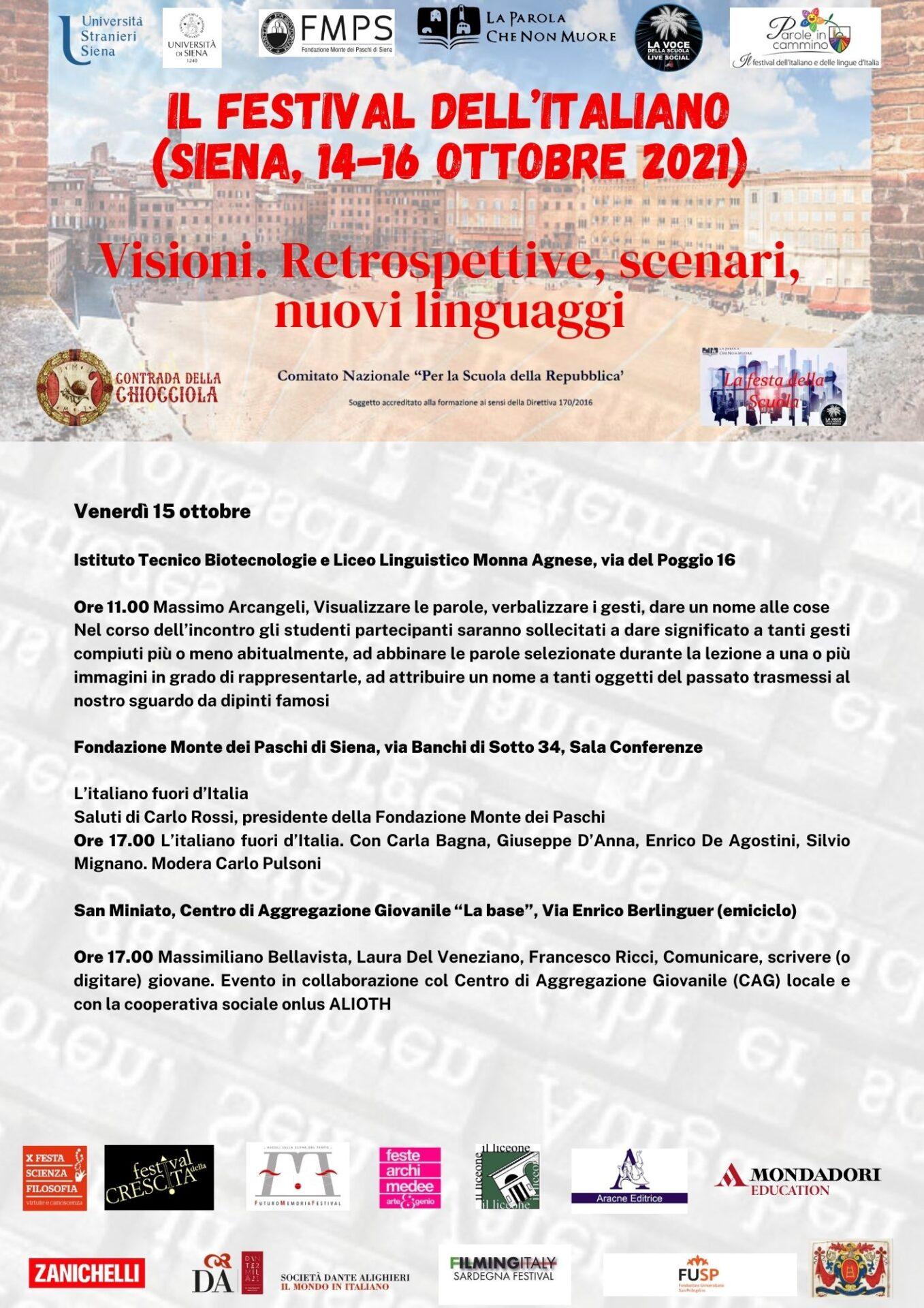 Il festival dell'italiano (Siena, 14-16 ottobre 2021) 2