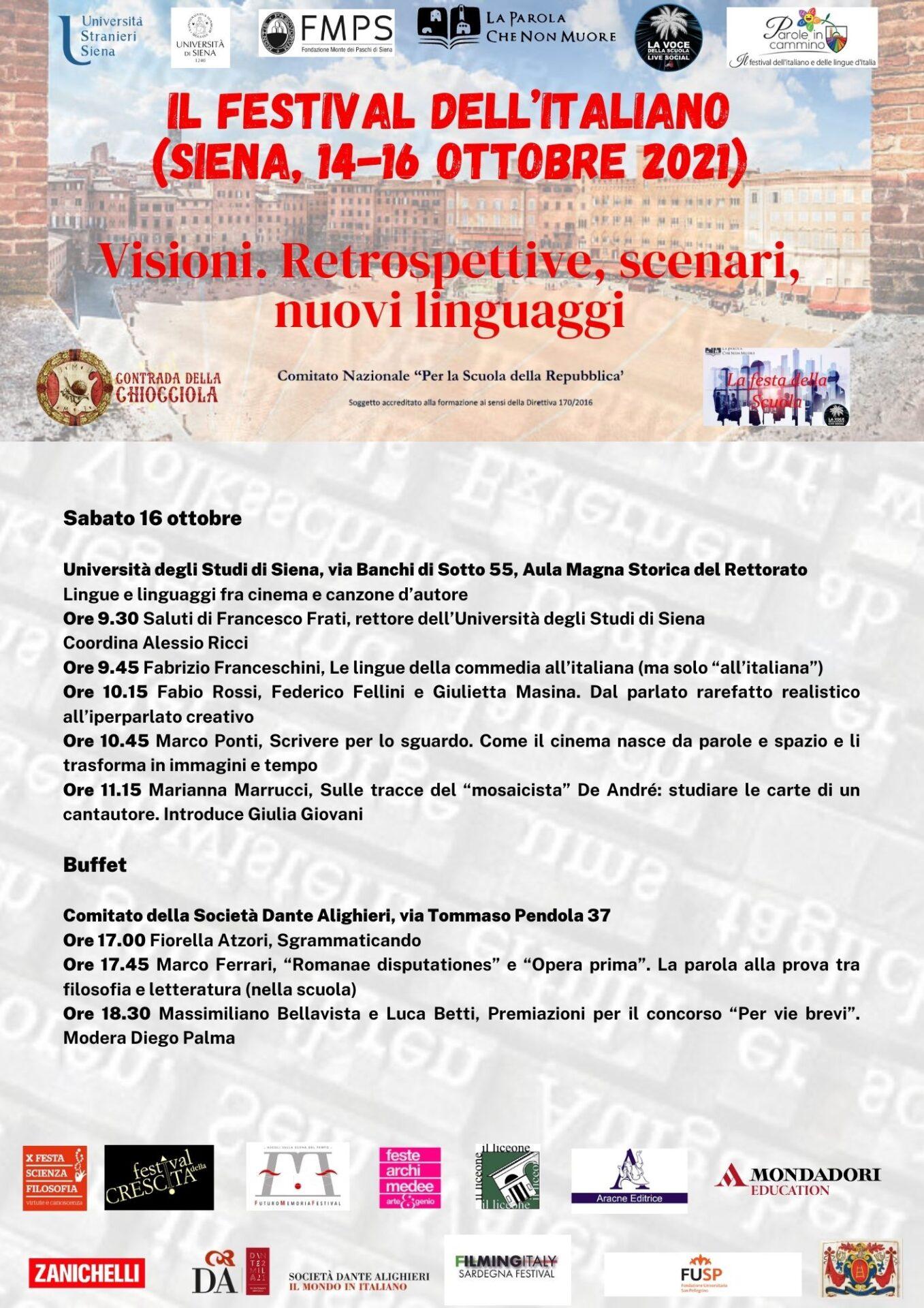 Il festival dell'italiano (Siena, 14-16 ottobre 2021) 3