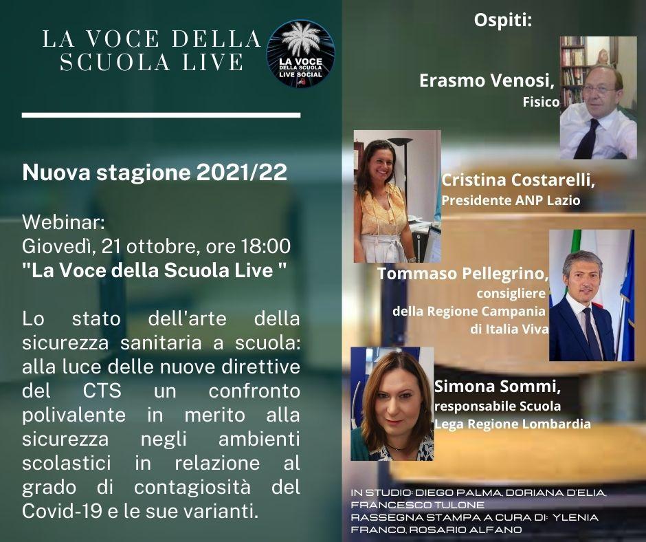"""La Voce della scuola LIVE, la nuova stagione: """"Un excursus verticale della scuola italiana"""""""